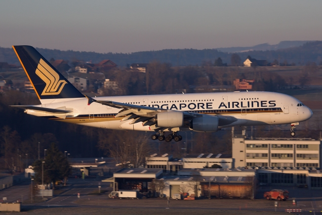 A380 - Singapore Airlines - 9V-SKG - Zurich ZRH/LSZH 07.03.2015 - Photo: Remo Garone