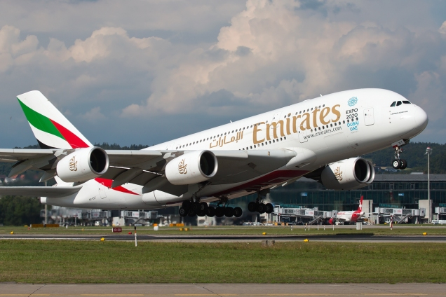 A380 - Emirates - A6-EDT - Zurich ZRH/LSZH 20.08.2015 - Photo: Remo Garone
