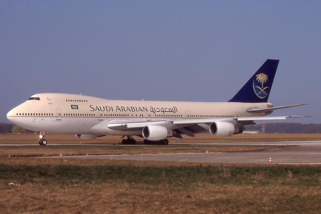 Boeing 747-200 - Saudia - A7-ABL - Genève GVA/LSGG - Avril 1998 - Photo copyright: Gilles Brion