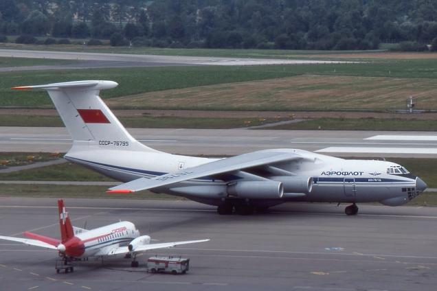 Ilyushin 76TD - Aeroflot - CCCP-76795 - Zurich ZRH/LSZH Août 1990 - Photo copyright: Gilles Brion