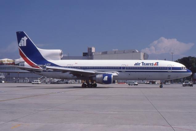 Lockheed Tristar - Air Transat - C-GTSZ - Genève GVA/LSGG Janvier 1993 - Photo copyright: Gilles Brion