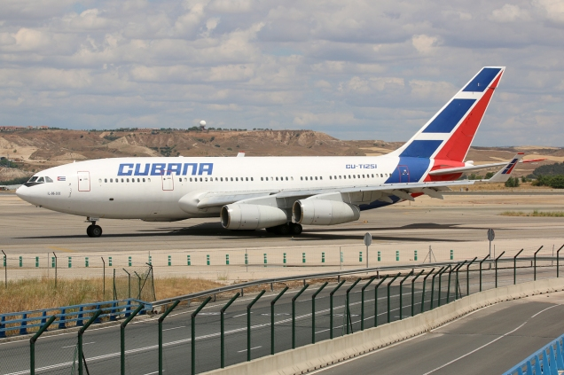 Ilyushin 96 - Cubana - CU-T1251 - Madrid MAD/LEMD - 16.06.2015 - Photo copyright: Gilles Brion