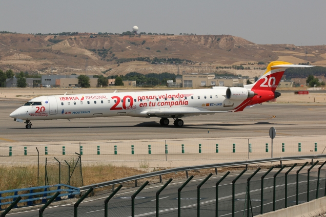 Bombardier CRJ-900 - Air Nostrum (Iberia Regional) - EC-JNB - Madrid MAD/LEMD - 28.06.2015 - Photo copyright: Gilles Brion