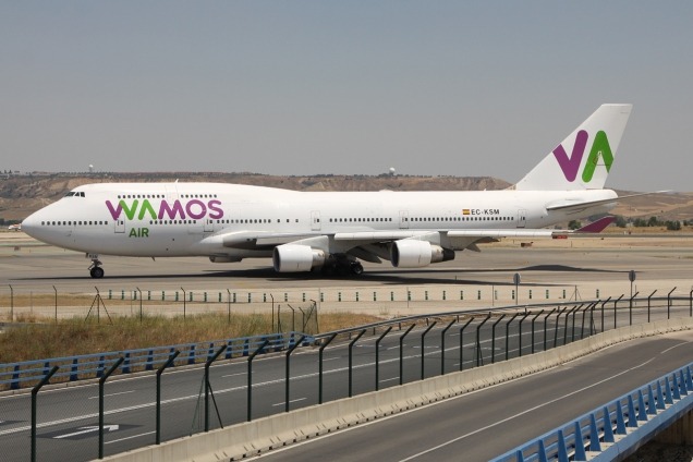 Boeing 747-400 - Wamos - EC-KSM - Madrid MAD/LEMD - 28.06.2015 - Photo copyright: Gilles Brion