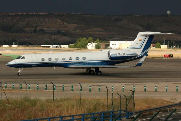 Gulfstream G-V-SP (G550) - Gestair - EC-LIY - Madrid MAD/LEMD - 15.06.2015 - Photo copyright: Gilles Brion