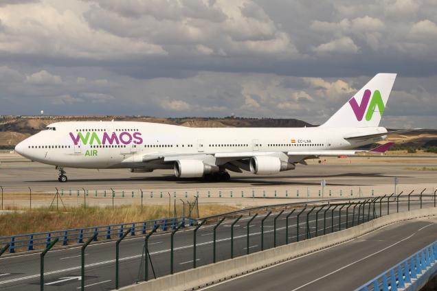 Boeing 747-400 - Wamos - EC-LNA - Madrid MAD/LEMD - 15.06.2015 - Photo copyright: Gilles Brion