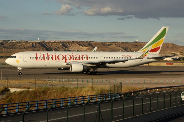 Boeing 767-300ER - Ethiopian - ET-ALJ - Madrid MAD/LEMD - 16.06.2015 - Photo copyright: Gilles Brion