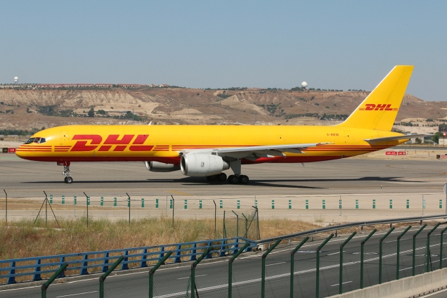 Boeing 757-200F - DHL - G-BIKM - Madrid MAD/LEMD - 17.06.2015 - Photo copyright: Gilles Brion