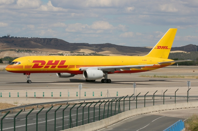 Boeing 757-200F - DHL - G-BIKP - Madrid MAD/LEMD - 16.06.2015 - Photo copyright: Gilles Brion