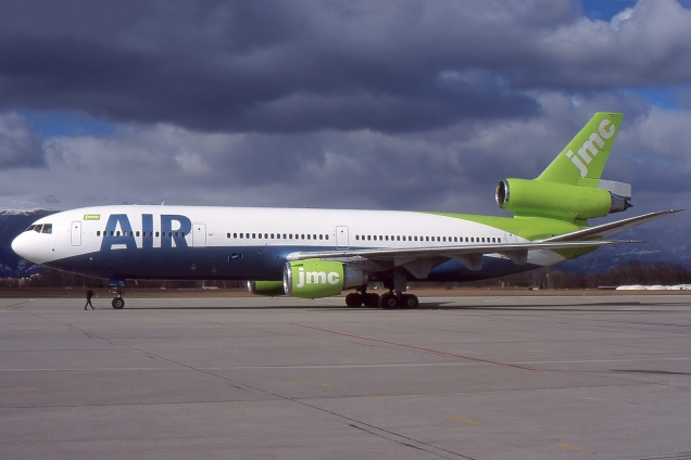 DC10 - JMC Air - G-LYON - Genève GVA/LSGG Mars 2000 - Photo copyright: Gilles Brion