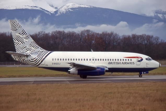 Boeing 737-200 - British Airways - G-BGDJ - Genève GVA/LSGG Janvier 1998 - Photo copyright: Gilles Brion