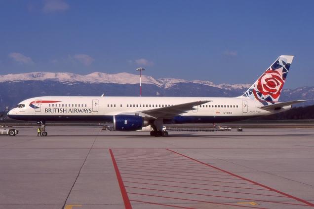 Boeing 757-200 - British Airways - G-BIKB - Genève GVA/LSGG Décembre 1998 - Photo copyright: Gilles Brion