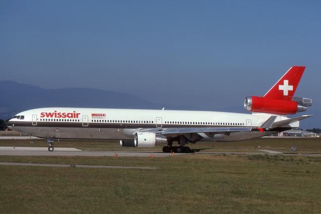 MD11 - Swissair - HB-IWA - Genève GVA/LSGG Septembre 1991 - Photo copyright: Gilles Brion