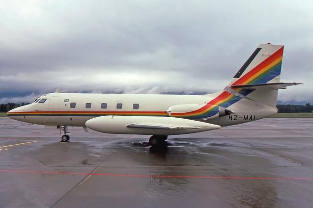 Lockheed Jetstar - - HZ-MA1 - Genève GVA/LSGG Octobre 1993 - Photo copyright: Gilles Brion