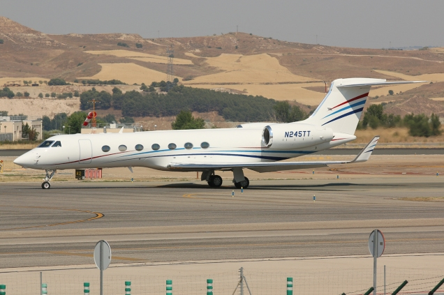 Gulfstream G-V-SP (G550) - N245TT - Madrid MAD/LEMD - 28.06.2015 - Photo copyright: Gilles Brion