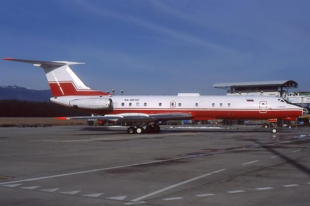 Tupolev 134 A-3M - RA-65721 - Genève GVA/LSGG Février 2000 - Photo copyright: Gilles Brion