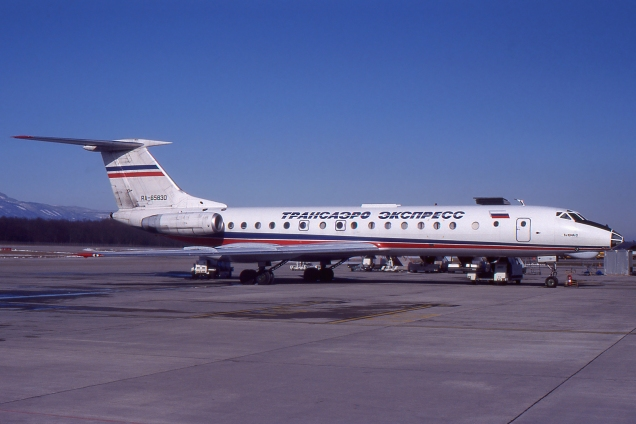 Tupolev 134A-3 - Transaero... - RA-65830 - Genève GVA/LSGG Avril 1999 - Photo copyright: Gilles Brion