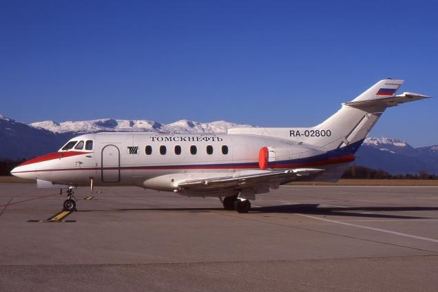 Hawker - RA-02800 - Genève GVA/LSGG Janvier 1998 - Photo copyright: Gilles Brion