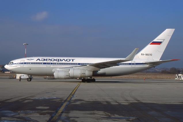 Ilyushin 96 - Aeroflot - RA96010 - Genève GVA/LSGG Janvier 2002 - Photo copyright: Gilles Brion