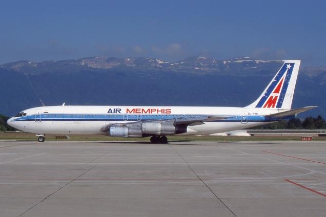 Boeing 707 - Air Memphis - SU-PBB - Genève GVA/LSGG Juin 2000 - Photo copyright: Gilles Brion