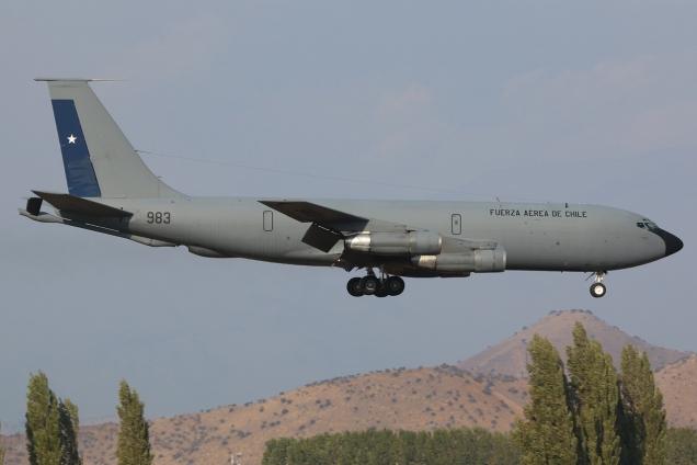 Boeing KC-135E - Fuerza aerea de Chile - 983 Santiago de Chile SCL/SCEL 30.03.2014 Photo copyright Gilles Brion