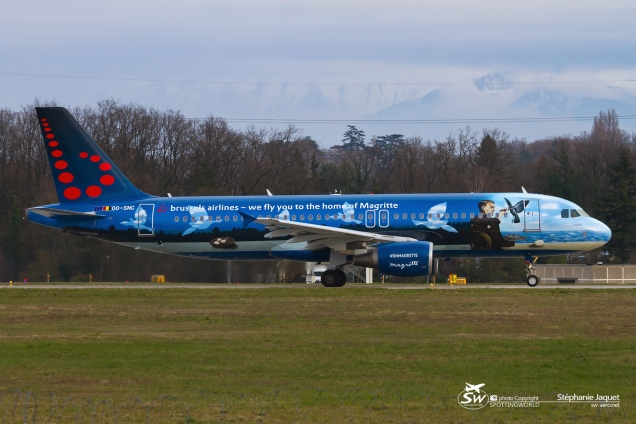 "A320 SN Brussels ""Magritte"" OO-SNC - GVA/LSGG 25.03.2016 by Stéphanie Jaquet"
